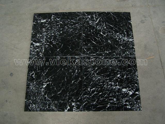 M324 nero marquina marble tile