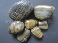 Polished Striped brown pebble