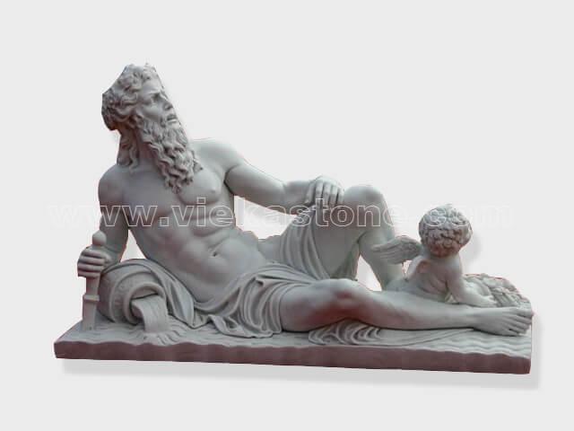 Sculptured Western Figure Statue marble(1)