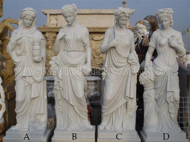 Sculptured Western Figure Statue marble(10)