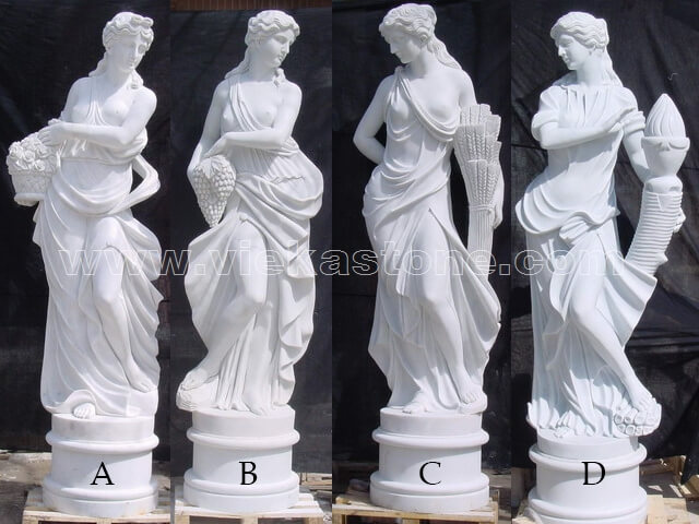 Sculptured Western Figure Statue marble(11)