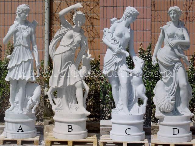 Sculptured Western Figure Statue marble(13)