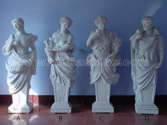 Sculptured Western Figure Statue marble(14)
