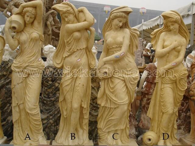 Sculptured Western Figure Statue marble (17)