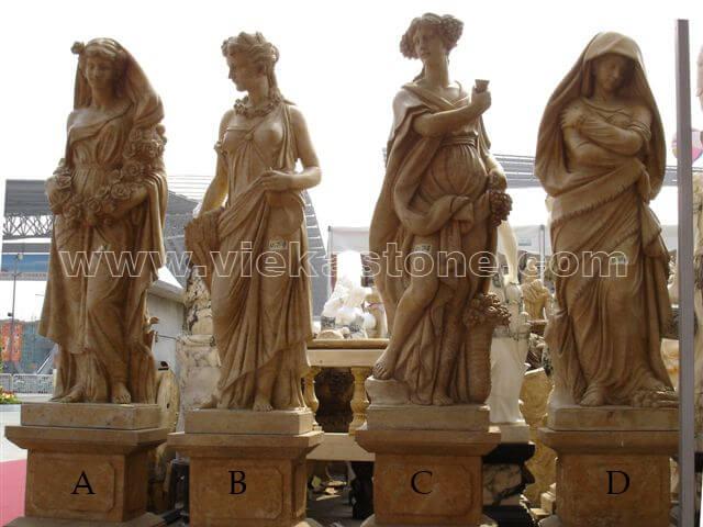 Sculptured Western Figure Statue marble(19)