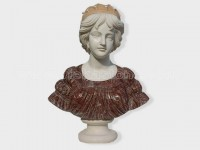 Sculptured Western Figure Statue head marble(2)
