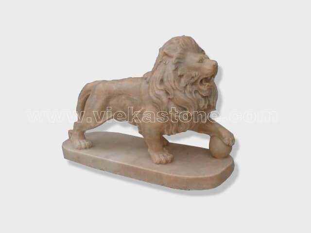 animals Garden Sculpture sunset red lion(11)