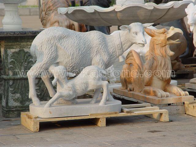 Garden Sculpture animals goat(24)