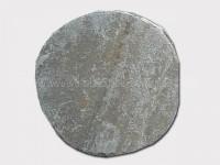 beige slate round stepping stone