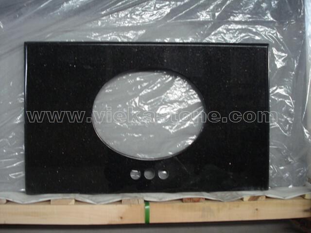 black galaxy granite countertop