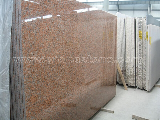 china G562 maple red granite slab (2)