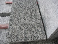 china surf white granite flamed tile