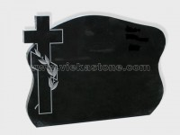 cross shanxi black granite tomb headstone (17)