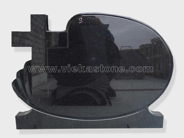 cross shanxi black granite tomb headstone (28)