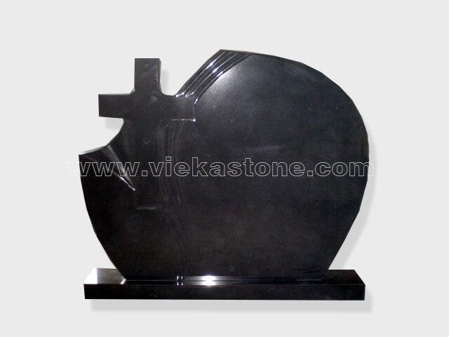 cross shanxi black granite tomb headstone (30)