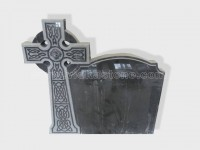 cross shanxi black granite tomb headstone (5)