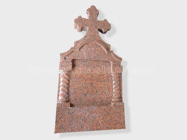 cross G562 maple red granite tomb headstone (50)