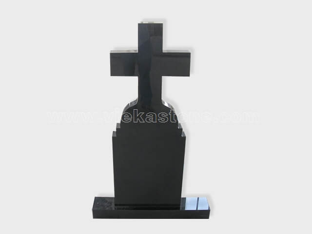 cross shanxi black granite tomb headstone (51)