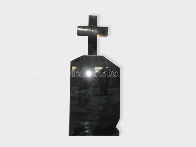 cross black granite tomb headstone (57)