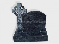 cross bahama blue granite tomb headstone (6)