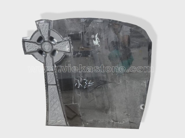 cross shanxi black granite tomb headstone (7)