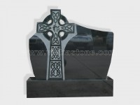 cross shanxi black granite tomb headstone (8)