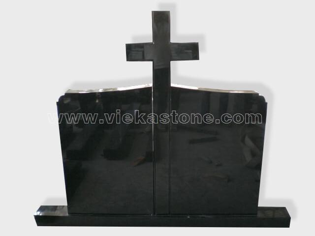 cross shanxi black granite tomb headstone (81)