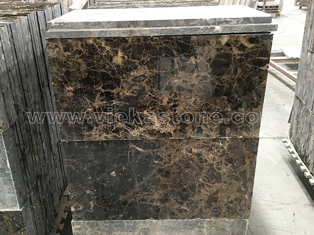 dark emperador marble polished tile