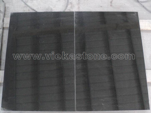 hebei black granite tile