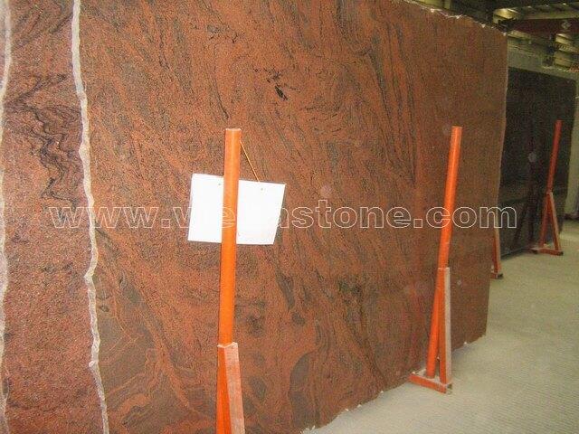 india multicolor red granite slabs