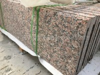 maple red G562 granite bullnose flamed step (2)