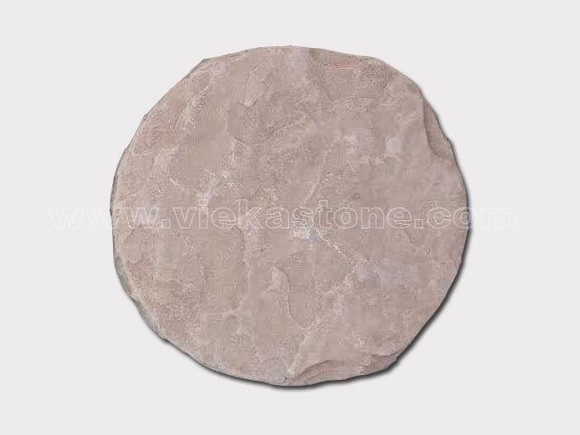 pink sandstone round stepping stone