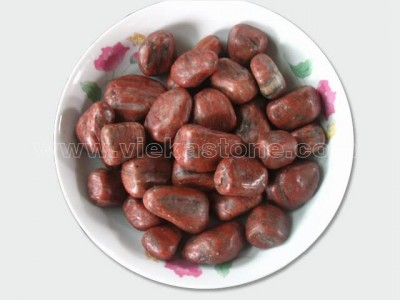 polished red pebble