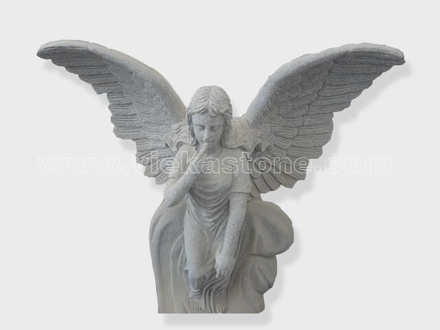 sculptured angel statue granite(1)