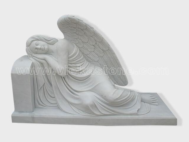 sculptured angel statue marble(2)