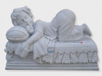 sculptured kid angel statue marble(1)