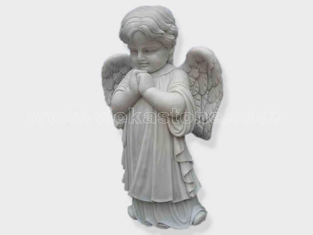 sculptured kid angel statue marble(2)
