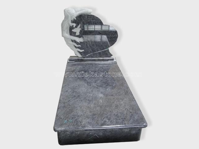 single bahama blue granite tombstone monument (12)