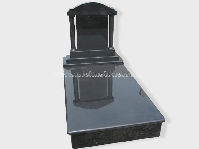 single black granite tombstone monument (14)