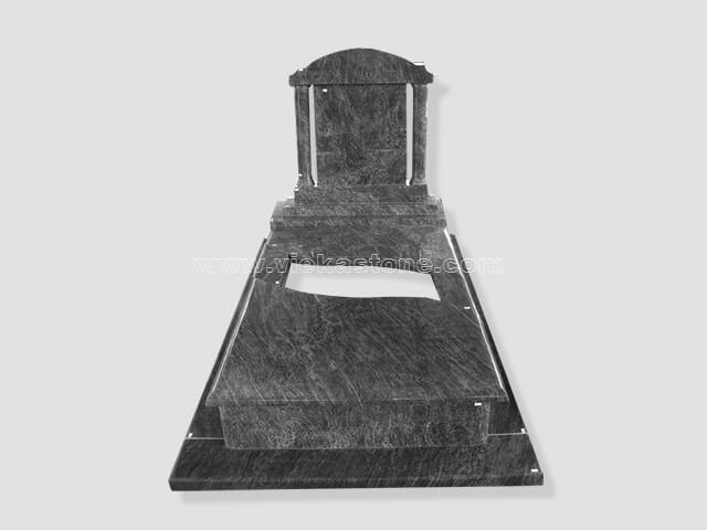 single bahama blue granite tombstone monument (15)