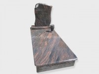 single aurora granite tombstone monument (18)