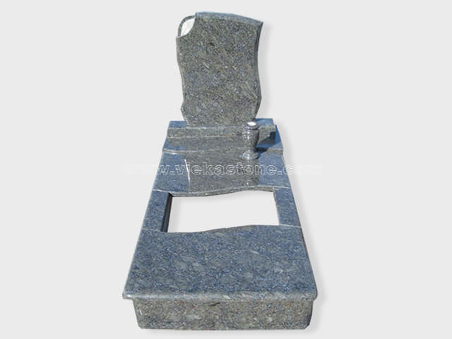 single butterfly blue granite tombstone monument (19)