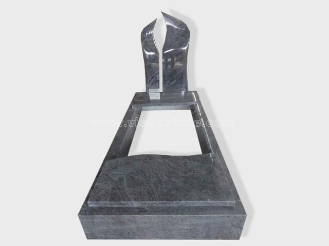single bahama blue granite tombstone monument (2)