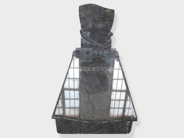 single bahama blue granite tombstone monument (33)