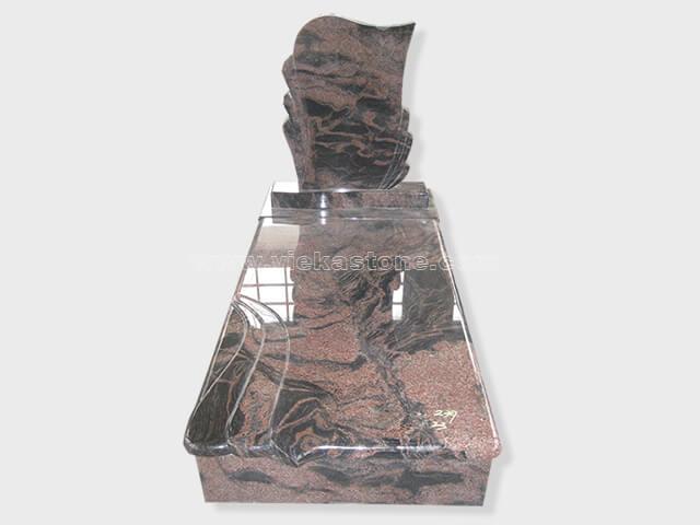 single aurora granite tombstone monument (35)