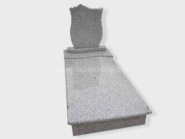 single G603 grey granite tombstone monument (49)