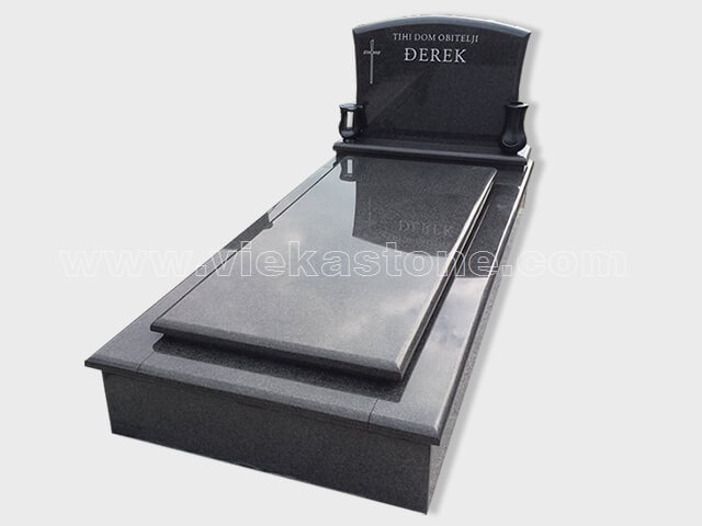 single black granite tombstone monument (50)