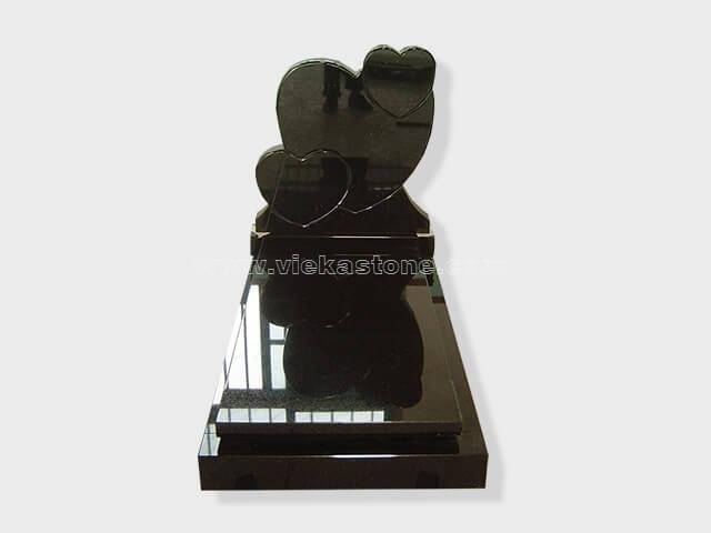 single shanxi black granite tombstone monument (69)