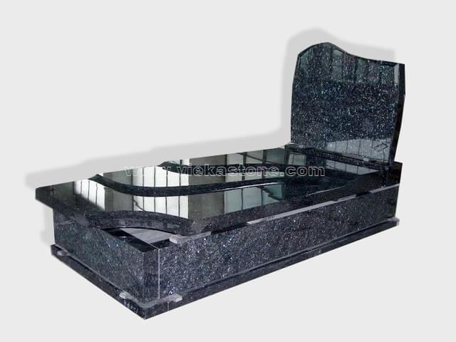 single blue pearl granite tombstone monument (83)