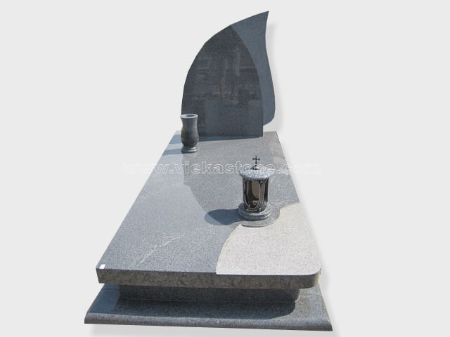 single G654 granite tombstone monument (9)